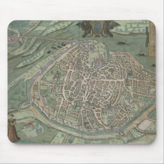 Map of Avignon, from 'Civitates Orbis Terrarum' by Mouse Pad