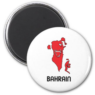 Map Of Bahrain Refrigerator Magnets