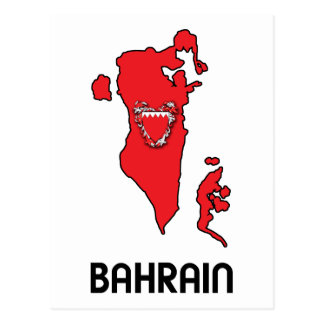 Map Of Bahrain Post Cards