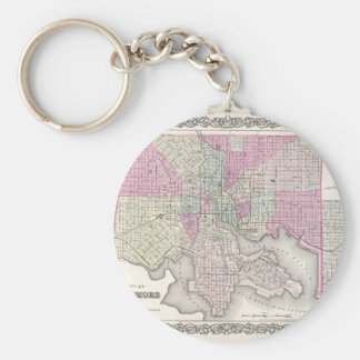 Map of Baltimore Maryland Keychain