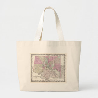 Map of Baltimore Maryland Large Tote Bag