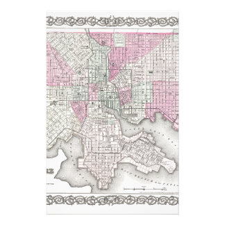 Map of Baltimore Maryland Stationery