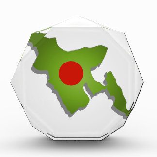 Map of Bangladesh Acrylic Award