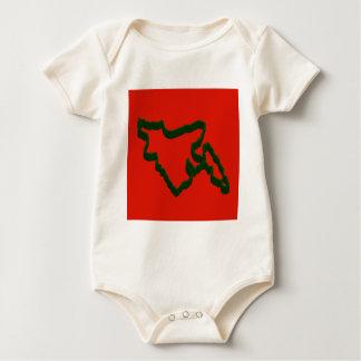 Map of Bangladesh Baby Bodysuit