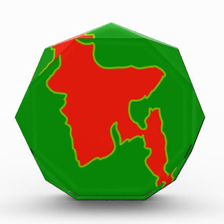 Map of Bangladesh with in red and green colors Award