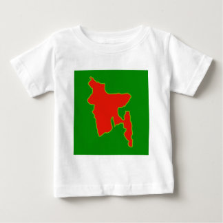 Map of Bangladesh with in red and green colors Baby T-Shirt