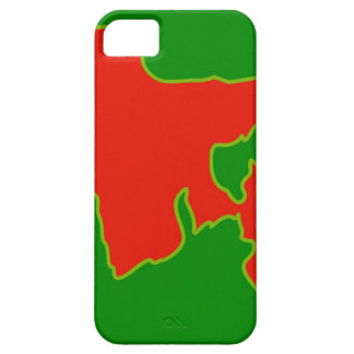 Map of Bangladesh with in red and green colors iPhone SE/5/5s Case