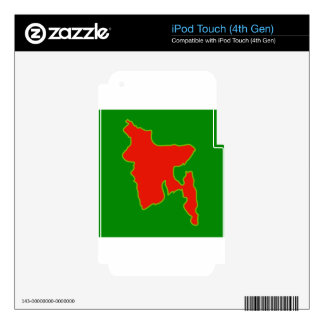 Map of Bangladesh with in red and green colors Skins For iPod Touch 4G