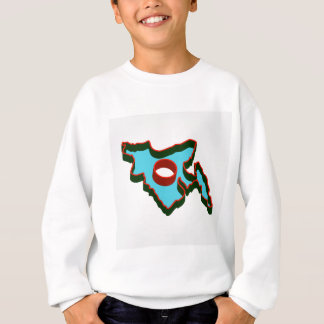 Map of Bangladesh with in red and green colors Sweatshirt
