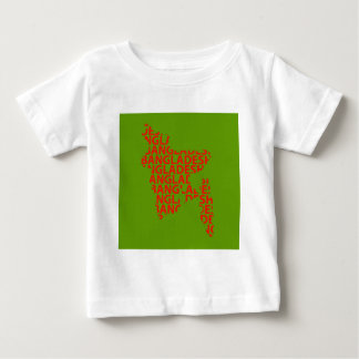 Map of Bangladesh with text inside Baby T-Shirt