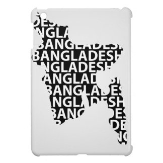 Map of Bangladesh with text inside iPad Mini Cases