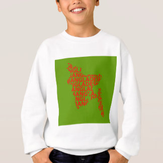 Map of Bangladesh with text inside Sweatshirt