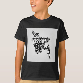 Map of Bangladesh with text inside T-Shirt