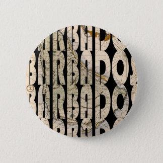 Map of Barbados 1758 Pinback Button