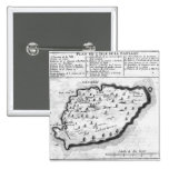 Map of Barbados 2 Inch Square Button
