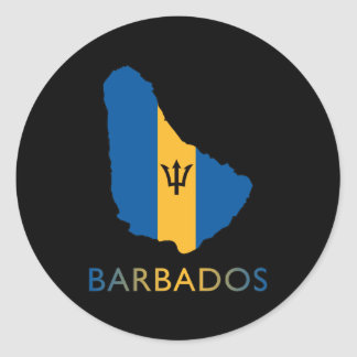 Map Of Barbados Classic Round Sticker