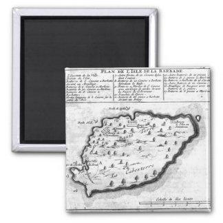Map of Barbados Magnet