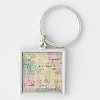 Map of Barron County, State of Wisconsin Keychain