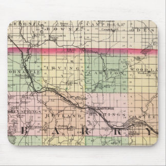 Map of Barry County, Michigan Mouse Pad