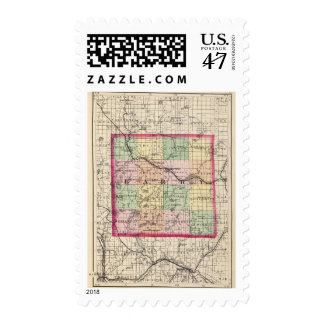 Map of Barry County, Michigan Postage