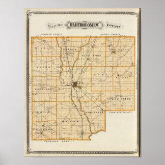 Map of Bartholomew County Poster
