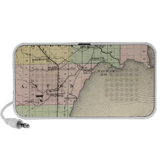 Map of Bay County, Michigan Laptop Speakers