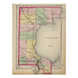 Map of Bay County, Michigan Posters