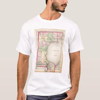 Map of Bay County, Michigan T-Shirt
