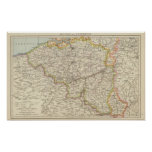 Map of Belgium and Luxembourg Poster