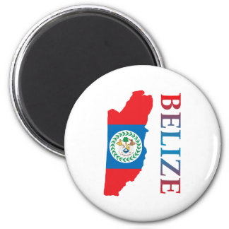 Map Of Belize 2 Inch Round Magnet