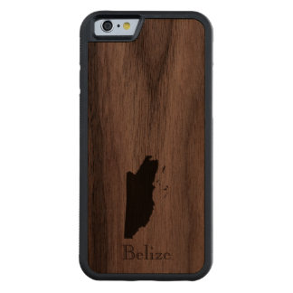 Map of Belize: Classic Design Carved Walnut iPhone 6 Bumper Case