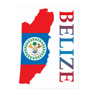 Map Of Belize Postcard