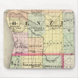 Map of Benzie and Manistee counties, Michigan Mouse Pad