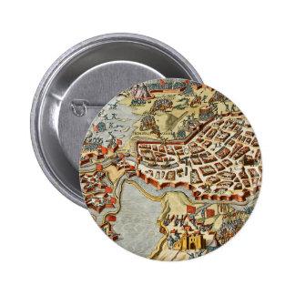 Map of Bergen op Zoom, Holland Button