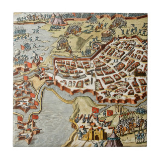 Map of Bergen op Zoom, Holland Ceramic Tile