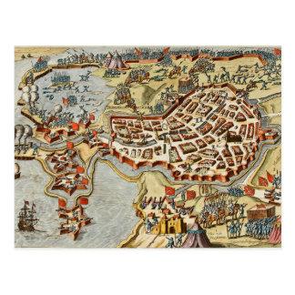 Map of Bergen op Zoom, Holland Postcard