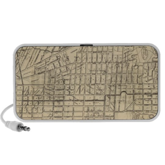 Map of Berkeley, California Portable Speaker