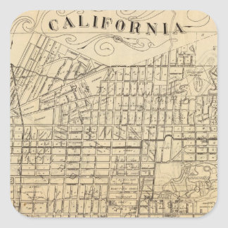 Map of Berkeley, California Square Sticker