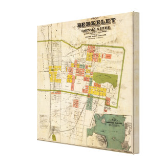 Map of Berkeley Gallery Wrapped Canvas