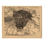 Map of Berlin, Germany, circa 1890 - 1907 Posters
