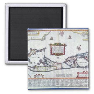 Map of Bermuda 2 Inch Square Magnet