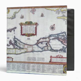 Map of Bermuda 3 Ring Binder
