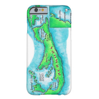Map of Bermuda Barely There iPhone 6 Case