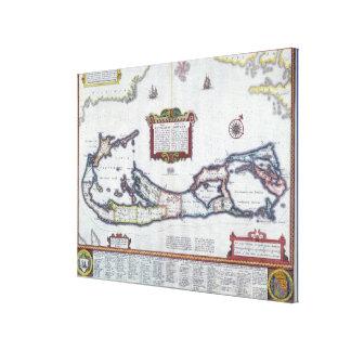 Map of Bermuda Canvas Print