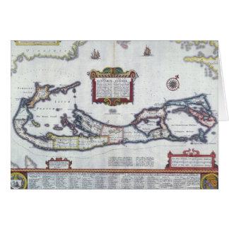 Map of Bermuda Greeting Card