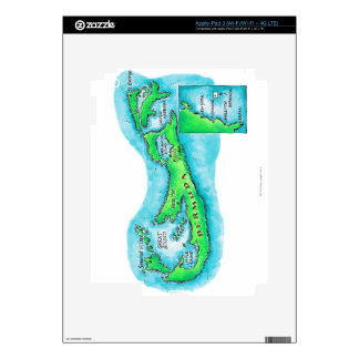 Map of Bermuda Decals For iPad 3