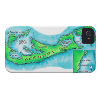Map of Bermuda iPhone 4 Cover