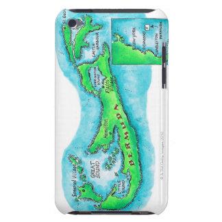 Map of Bermuda iPod Case-Mate Case
