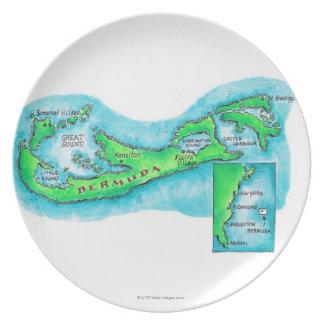 Map of Bermuda Plate