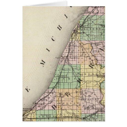 Map of Berrien County, Michigan Card